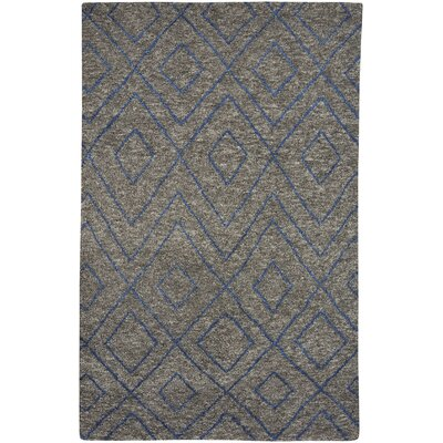 Fortress Hand-Knotted Gray Area Rug Rug Size: 5 x 8