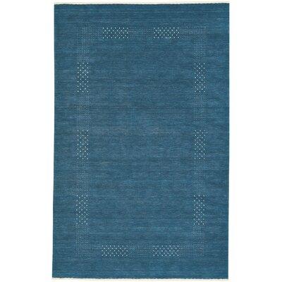 Gava Hand-Tufted Azure Area Rug Rug Size: 3 x 5