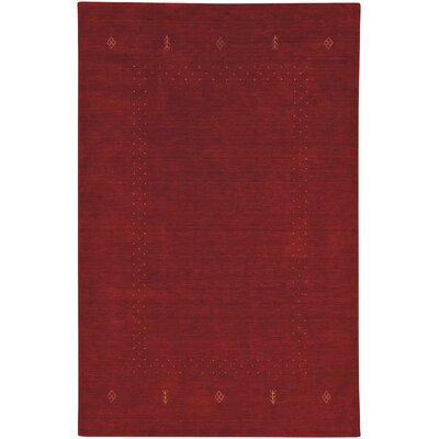 Gava Hand-Tufted Crimson Area Rug Rug Size: Rectangle 5 x 8