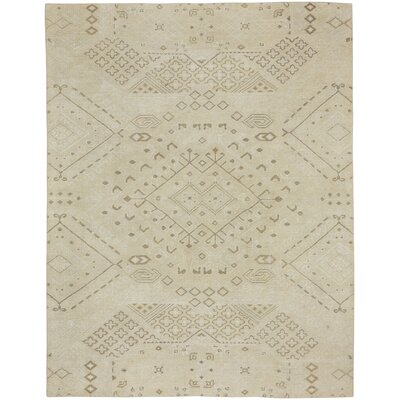Cannae Hand-Knotted Barley Area Rug Rug Size: 8 x 10