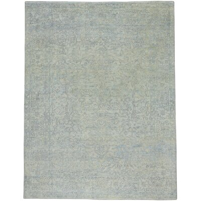 Cannae Hand-Knotted Mint Area Rug Rug Size: 56 x 86