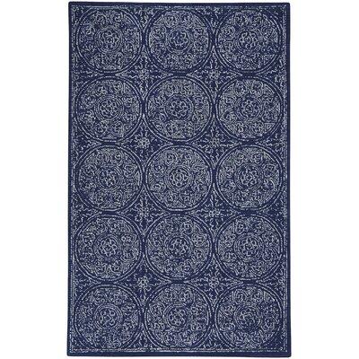 Allure Hand-Tufted Indigo Area Rug Rug Size: 9 x 12