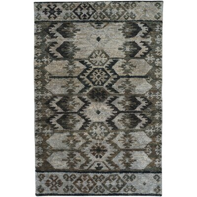 Striation Gray Area Rug Rug Size: 36 x 56