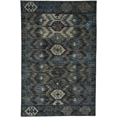 Striation Blue Area Rug Rug Size: 9 x 12