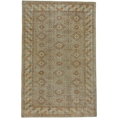 Caria Hand-Knotted Fawn/Gray Area Rug Rug Size: 9 x 12