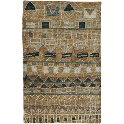 Striation Tan Area Rug Rug Size: 36 x 56
