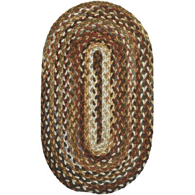 Berkshire Braided Bark/Clay Area Rug Rug Size: Oval 3 x 5