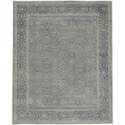 Cannae Hand-Knotted Blue Area Rug Rug Size: 9 x 12