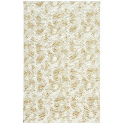 Cozy Polar White/Beige Area Rug Rug Size: 5 x 8