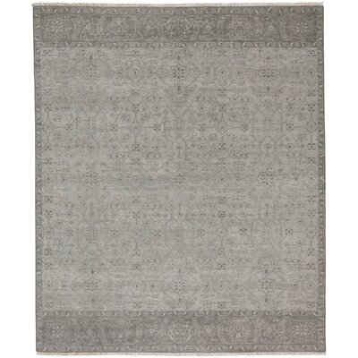 Biltmore Hand-Knotted Gray Area Rug Rug Size: 96 x 136
