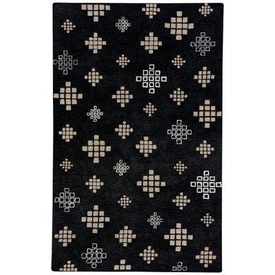 COCOCOZY Geneva Hand-Tufted Ebony Beige Area Rug Rug Size: 33 x 53