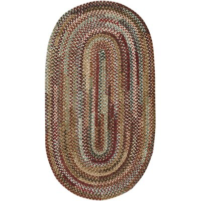Habitat Deep Red Area Rug Rug Size: Oval 18 x 26