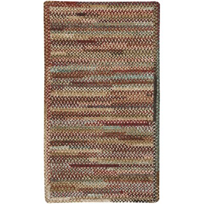 Habitat Deep Red Area Rug Rug Size: 18 x 26