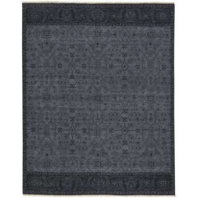 Biltmore Barrier Hand-Knotted Dark Ash Ebony Area Rug Rug Size: 76 x 96