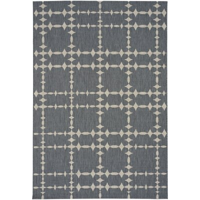 Elsinore Tower Court Coal Indoor/Outdoor Area Rug Rug Size: 53 x 76