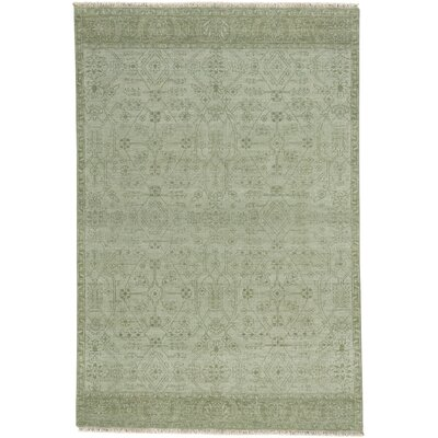 Biltmore Barrier Hand-Knotted Thyme Area Rug Rug Size: 76 x 96