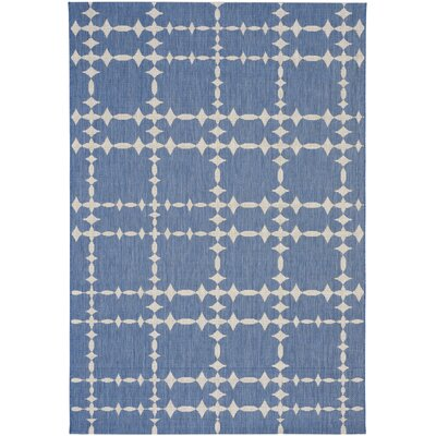 COCOCOZY Elsinore Tower Court Blueberry Indoor/Outdoor Area Rug Rug Size: 53 x 76