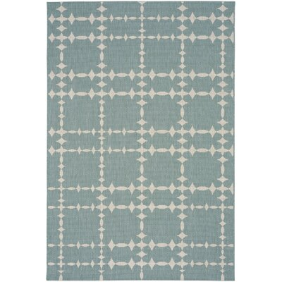 COCOCOZY Elsinore Tower Court Blue Indoor/Outdoor Area Rug Rug Size: 53 x 76