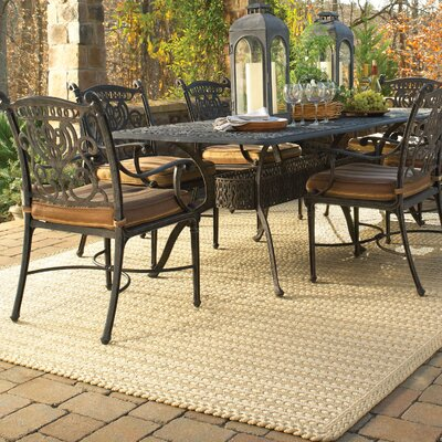 Boathouse Beige Indoor/Outdoor Area Rug Rug Size: Cross Sewn 5 x 8