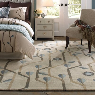Blue Bell Twining Area Rug Rug Size: Rectangle 5 x 8