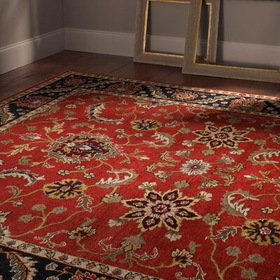 Renown Scarlet Red Area Rug Rug Size: 5 x 8