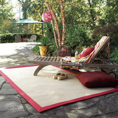 Zoe Machine Tufted Red/Brown Indoor/Outdoor Area Rug Rug Size: Rectangle 9 x 12