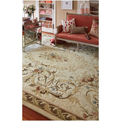 Evelyn Beige Area Rug Rug Size: 5 x 8