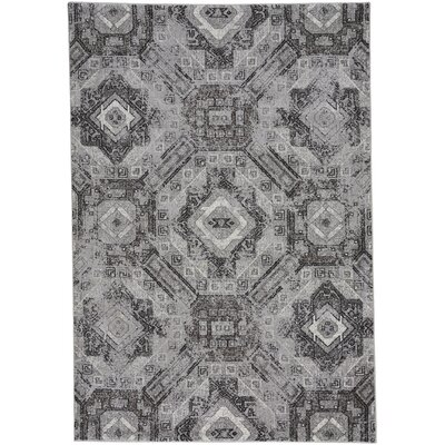 Edgware Gray Area Rug Rug Size: 710 x 1010