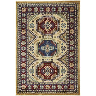 Chardae Kazak Beige Area Rug Rug Size: 9 x 13