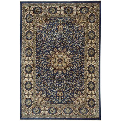 Tobar Medallion Blue/Beige Area Rug Rug Size: 9 x 13