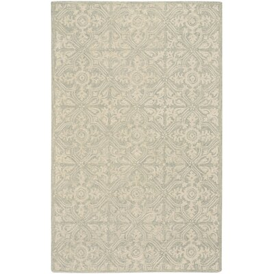 Oyer Hand-Tufted Wool Beige Area Rug Rug Size: 9 x 12