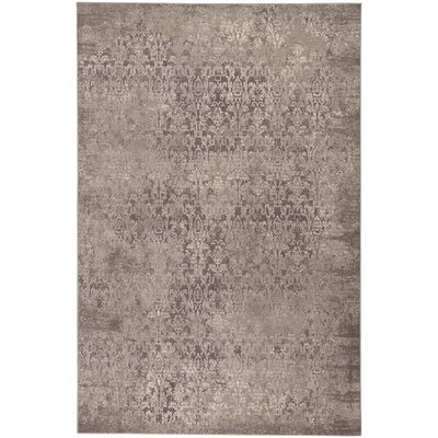 Oyler Victoria Wool Brown Area Rug Rug Size: 92 x 125