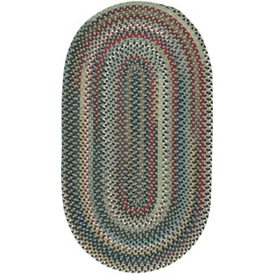 Heidi Traditional Green/Red Area Rug Rug Size: Oval 27 x 48