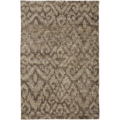 Dunsmore Hand-Knotted Beige Area Rug Rug Size: 9 x 12