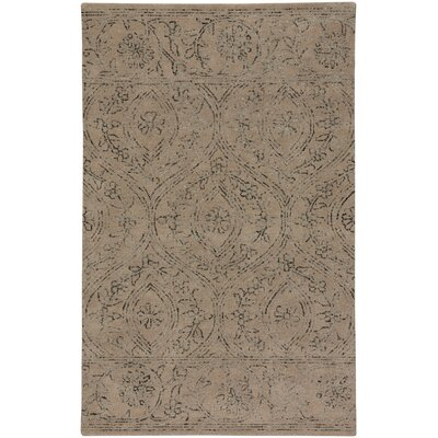 Oxley Hand-Tufted Wool Brown Area Rug Rug Size: 5 x 8