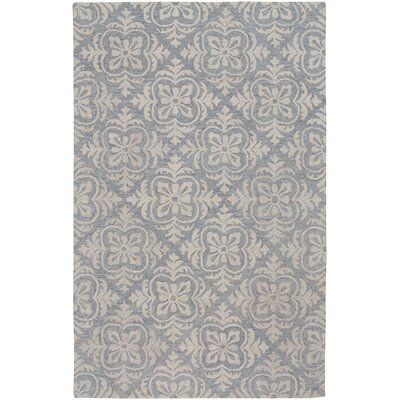 Oyer Hand-Tufted Wool Blue Area Rug Rug Size: 9 x 12