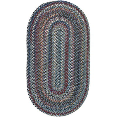Heidi Blue/Red Area Rug Rug Size: Oval 114 x 144