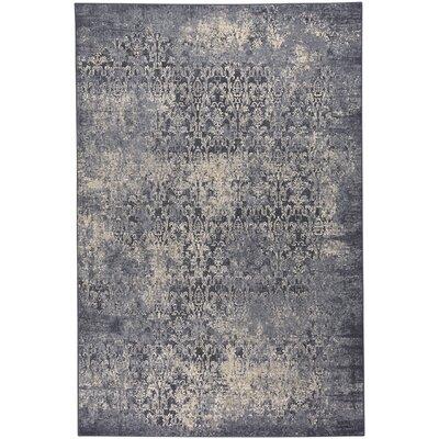 Oyler Victoria Wool Navy Area Rug Rug Size: 92 x 125