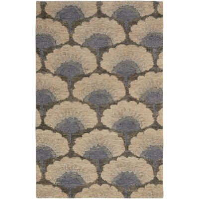Chappell Hand-Knotted Beige/Gray Area Rug Rug Size: 5 x 8