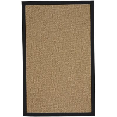 Gresham Agave Braided Ebony Tan Indoor/Outdoor Area Rug Rug Size: Rectangle 4 x 6