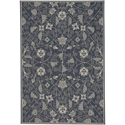 Julia Garden Maze Blue Outdoor Area Rug Rug Size: 311 x 56