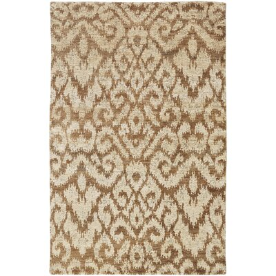 Dunsmore Hand-Knotted Beige Area Rug Rug Size: 5 x 8