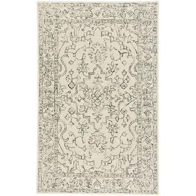Oxley Hand-Tufted Wool Beige Area Rug Rug Size: 9 x 12