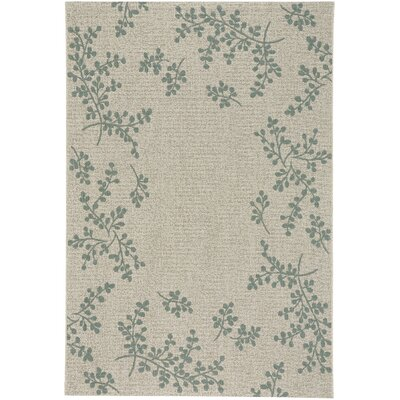 Jacqueline Winterberry Green Outdoor Area Rug Rug Size: 311 x 56