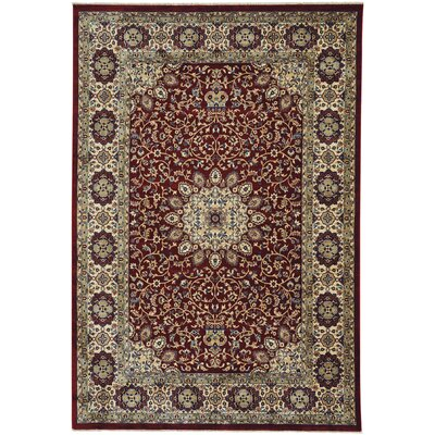 Tobar Medallion Red/Beige Area Rug Rug Size: 3 x 5