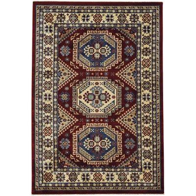 Chardae Kazak Red/Beige Area Rug Rug Size: 3 x 5