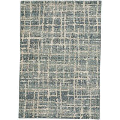 Adalyn Azure Blue Area Rug Rug Size: 44 x 62