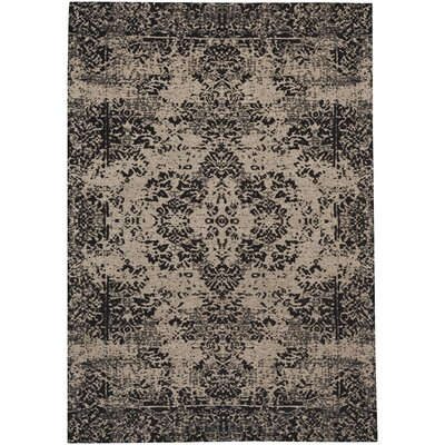Edinburgh Black Area Rug Rug Size: 5 x 8