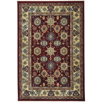Chardae Ushak Red/Beige Area Rug Rug Size: 53 x 8