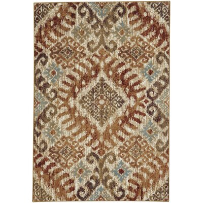 Pilesgrove Diamond Sunset Area Rug Rug Size: 53 x 78